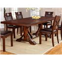 Warehouse M Adirondack 5-Piece Dining Table Set - Item Number: 1287-44102+4x613-S