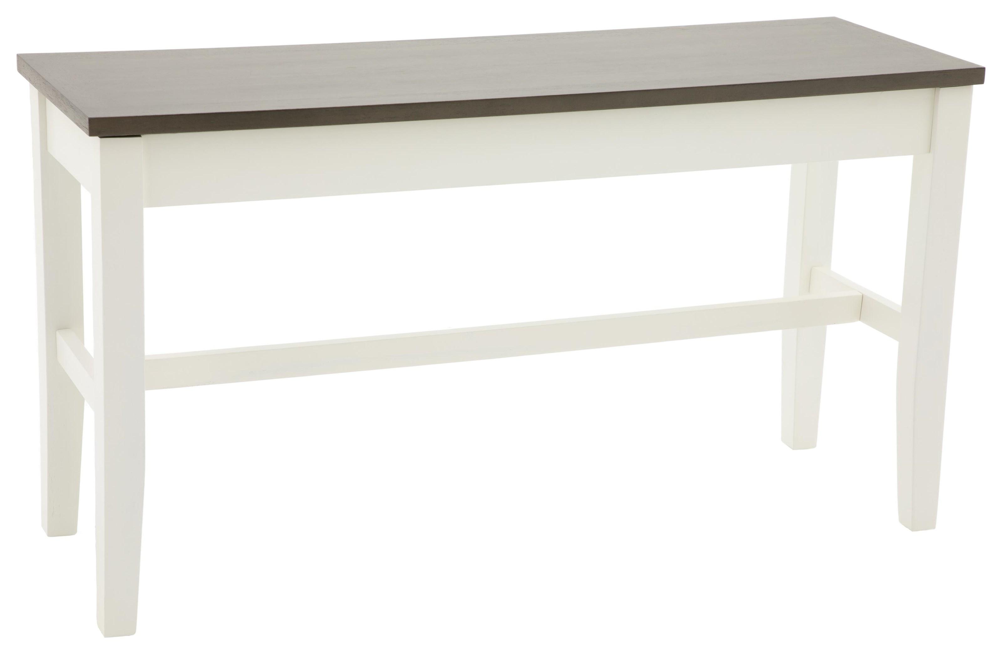 Carey White Carey Counter Height Storage Bench at Walker's Furniture