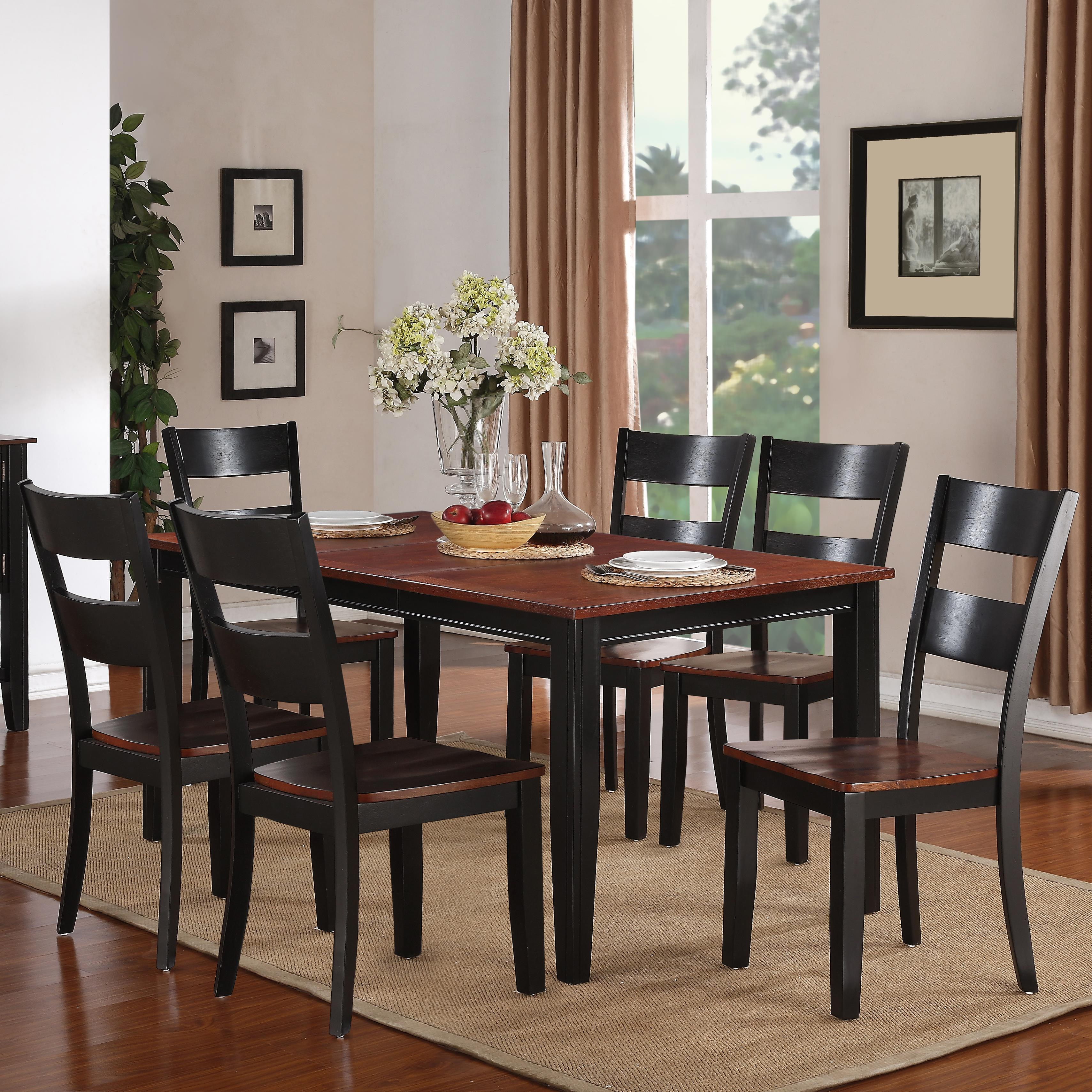 Holland House 8202 7 Piece Dining Set - Item Number: 8202-3866+6x521-S