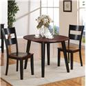 Holland House 8202 3 Piece Table and Chair Set - Item Number: 8202-4242+2x521-S