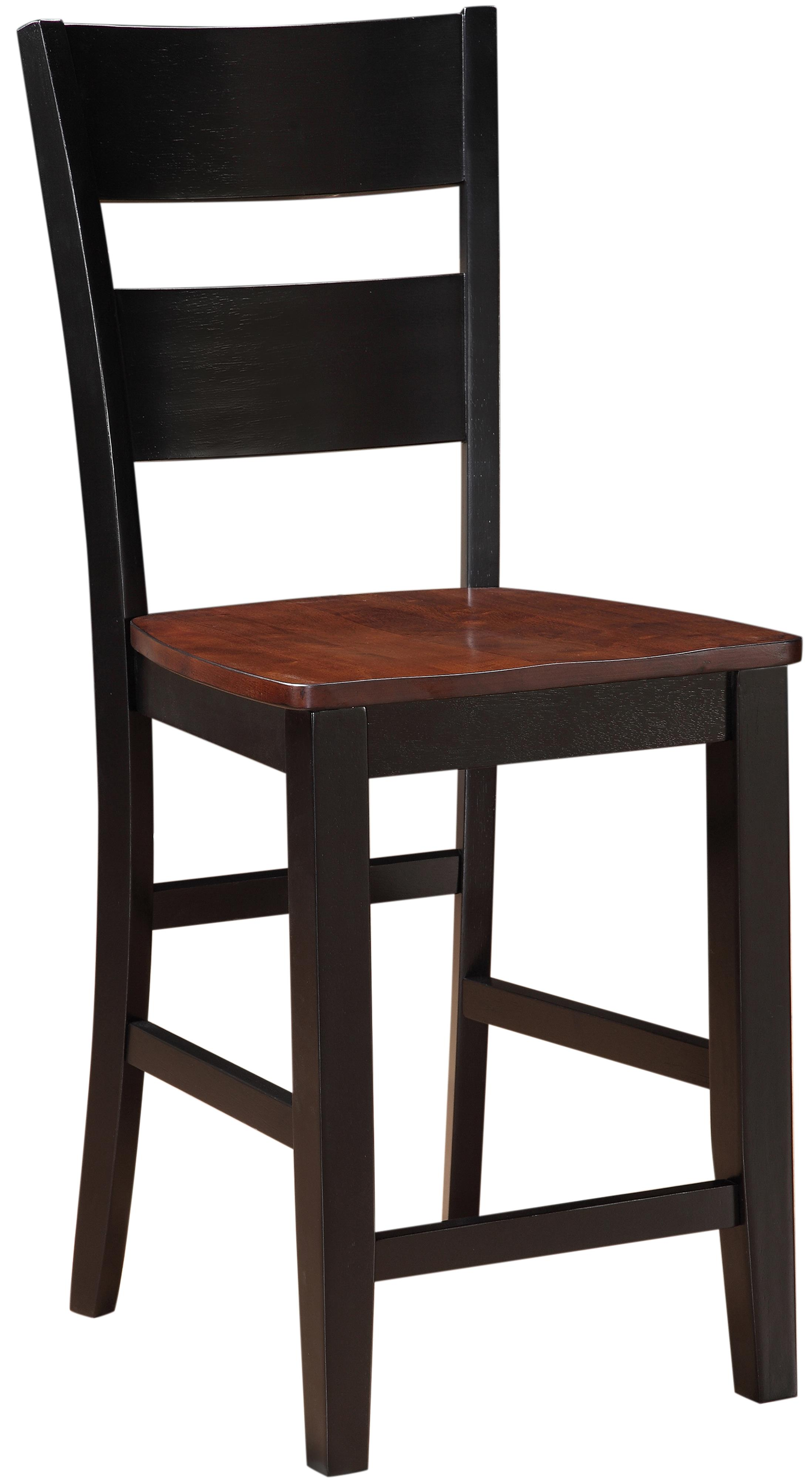 Holland House 8202 Counter Height Pub Chair with Tapered Legs
