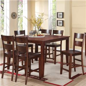 Holland House 8203 7 Piece Counter Height Dining Set