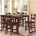 Holland House 8203 7 Piece Counter Height Dining Set - Item Number: 8203-TPB5454+CPB223-S