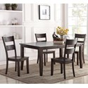 Holland House 8204 5 Piece Dining Set - Item Number: 8204-3866+4x521-S
