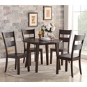 Holland House 8204 5 Piece Table and Chair Set - Item Number: 8204-4242+4x521-S