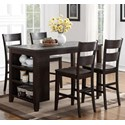 Holland House 8204 5-Piece Island Table Set - Item Number: 8204-TPB3060+4xCPB223-S