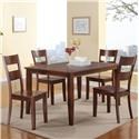 Holland House 8203 7 Piece Dining Set - Item Number: GRP-8203-TBL6