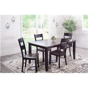 Charcoal & Ebony Dining Table with 6 Chairs