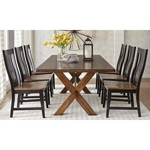 Warehouse M 9108 7-Piece Dining Table Set