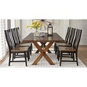 Warehouse M 9108 Solid Wood Dining Table with X Base Trestle