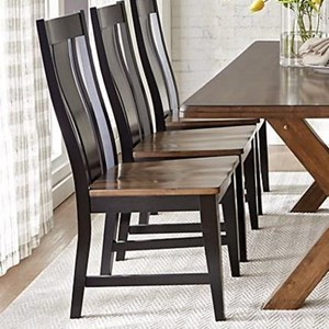 Solid Wood Dining Side Chair With Bentwood Back