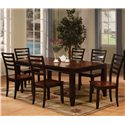 Holland House Adaptable Dining 7 Piece Contemporary Dining Set - 1267-4278L+6X441-S