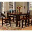 Holland House Adaptable Dining 7 Piece Casual Dining Set - Item Number: 1267-TPB5454+4XCPB553-S+2XTPB665-S