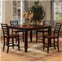 Holland House Adaptable Dining 5 Piece Casual Dining Set - Item Number: 1267-TPB5454+4XCPB553-S