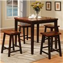 Holland House Adaptable Dining Barstool - 1267-TPB665-S - Shown With Pub Leg Table