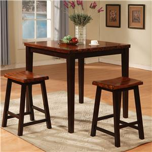 Holland House Adaptable Dining 3 Piece Pub Set | Godby Home Furnishings | Pub Table and Stool Set Noblesville Carmel Avon Indianapolis Indiana & Holland House Adaptable Dining 3 Piece Pub Set | Godby Home ...