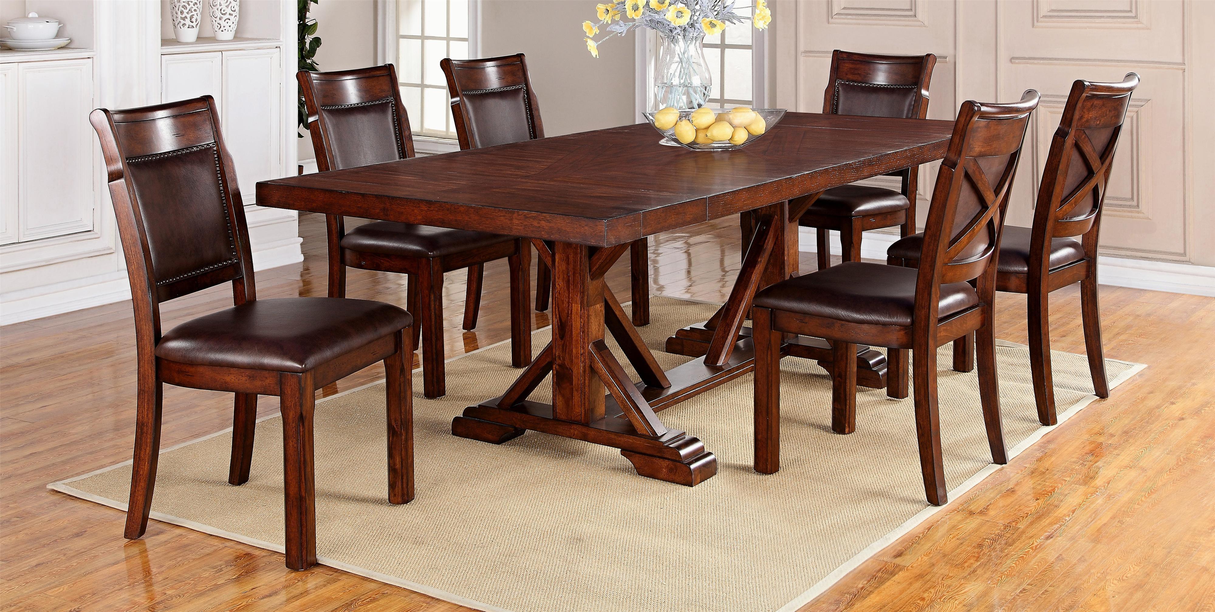 Adirondack 7-Piece Dining Table Set by Warehouse M at Pilgrim Furniture City