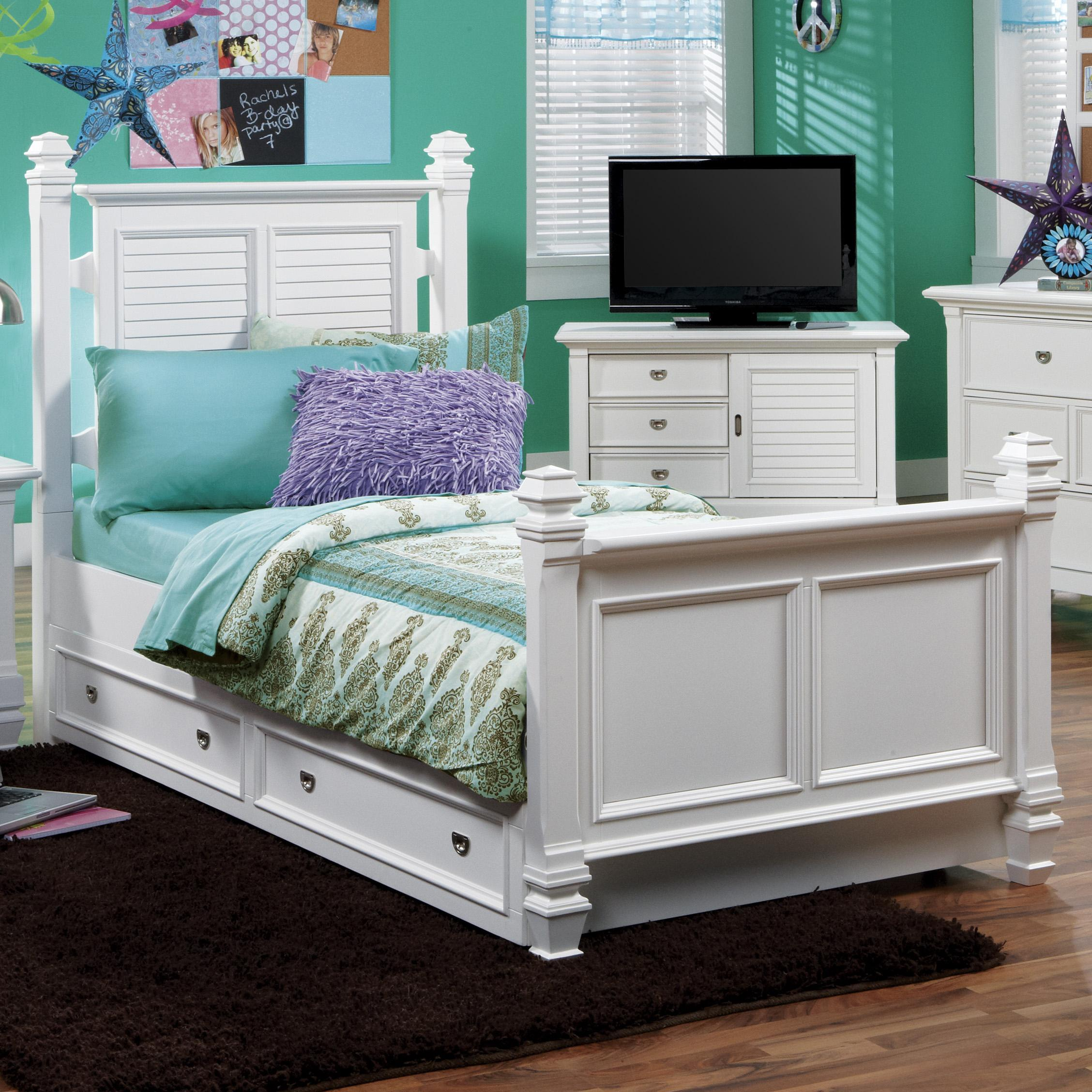 Holland House Belmar Youth Full Poster Bed - Item Number: 2697-27H+27F+17R