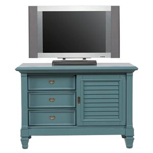 Holland House Belmar Youth 3-Drawer Entertainment Chest with Side Cabinet