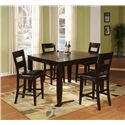 Holland House Bend Square Top Pub Table with Butterfly Leaf - 1289-TPB5454 - Shown with Pub Chairs.