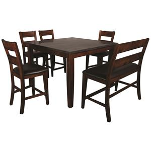 Morris Home Furnishings Melbourne Melbourne 6-Piece Pub Set
