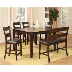 Morris Home Furnishings Melbourne - Melbourne 6-Piece Pub Set