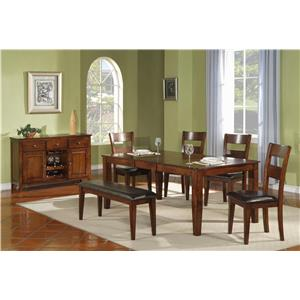 Morris Home Furnishings Melbourne Melbourne 5-Piece Dining Set