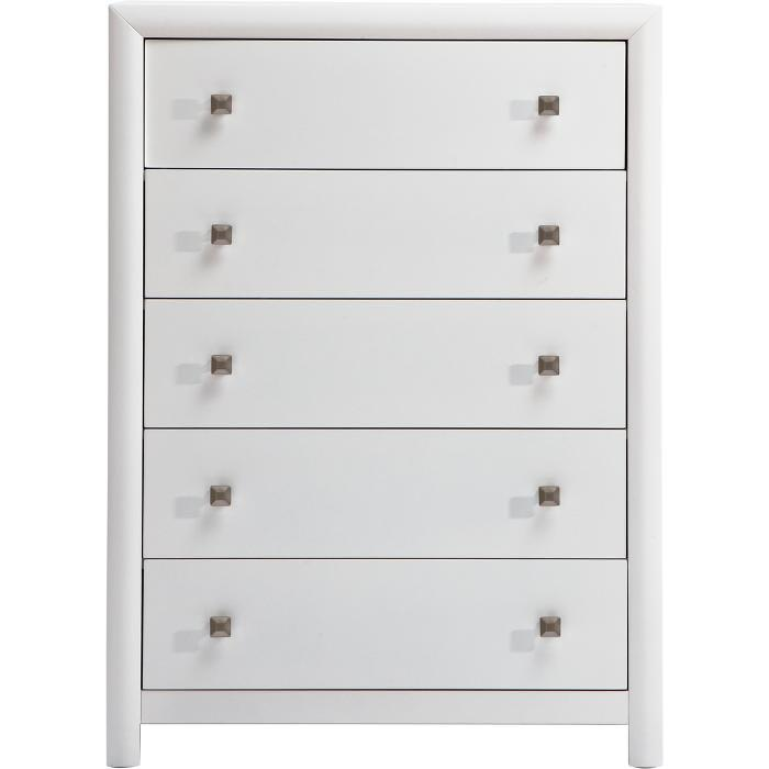 best sneakers 93a02 7104b Holland House Boca White 5 Drawer Chest | FMG - Local Home ...