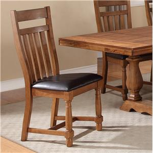 Warehouse M Bryce Canyon Slat Side Chair