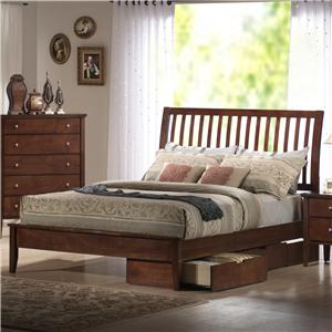 Holland House Central Park  Queen Slatted Sleigh Headboard Bed