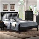 Holland House Central Park Queen Slatted Sleigh Headboard Bed - 5504-29HF+29R - Bed Shown May Not Represent Size Indicated
