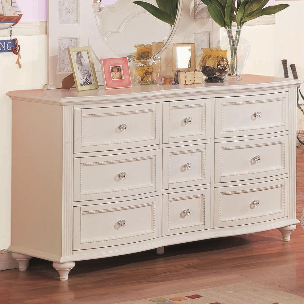 Holland House Chantilly Drawer Dresser W Clear Knobs Fmg Local