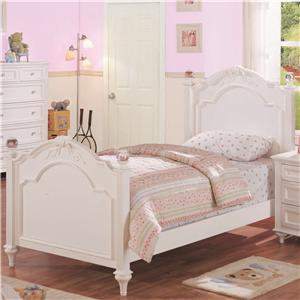 Morris Home Furnishings Loveland Loveland Twin Post Bed