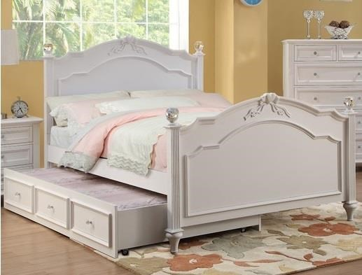 Fiona Full Post Bed and Trundle  by HH at Walker's Furniture