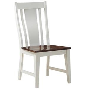 Morris Home Furnishings Creston Creston Slat Back Dining Chair