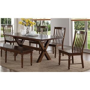 Morris Home Furnishings Creston Creston 5-Piece Dining Set