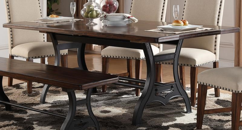 "Morris Home Furnishings Creston Creston 84"" Dining Table - Item Number: 530304688"