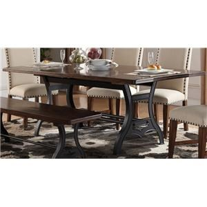 "Morris Home Furnishings Creston Creston 84"" Dining Table"