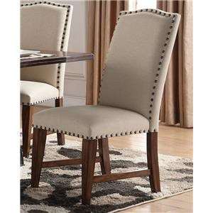 Morris Home Furnishings Creston Creston Upholstered Side Chair