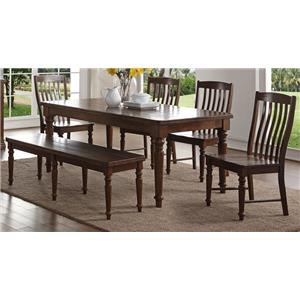 Morris Home Furnishings Creston Creston 5-Piece Table and Chair Set