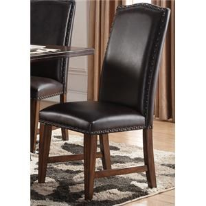 Morris Home Furnishings Creston Creston Leather Side Chair