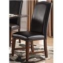 Morris Home Furnishings Creston Creston Leather Side Chair - Item Number: 705180489