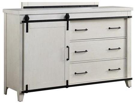 3 Drawer Dresser W/Shelves