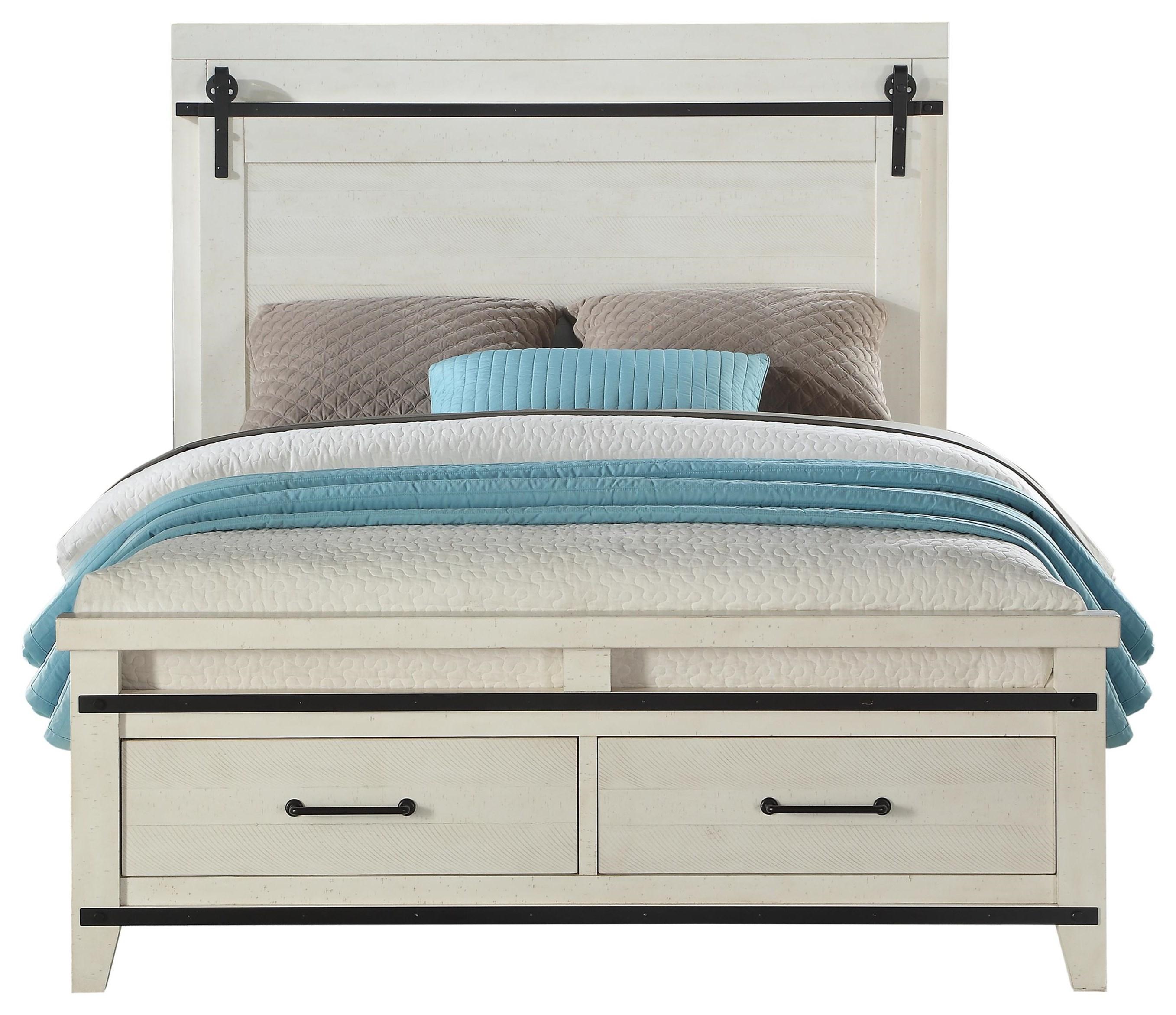 Picture of: Dakota King Size Storage Bed Walker S Furniture Panel Beds