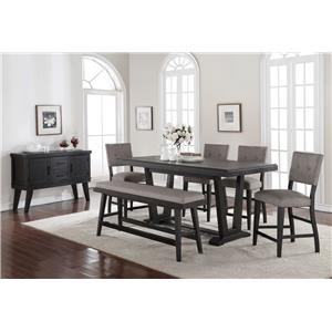 Morris Home Furnishings Forest Place Forest Place 5-Piece Counter Dining Set
