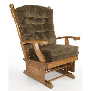 Holland House Glider Rockers Oak Glider Rocker With Tufted Backrest