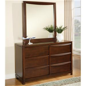 Morris Home Furnishings Granada Dresser & Mirror Set