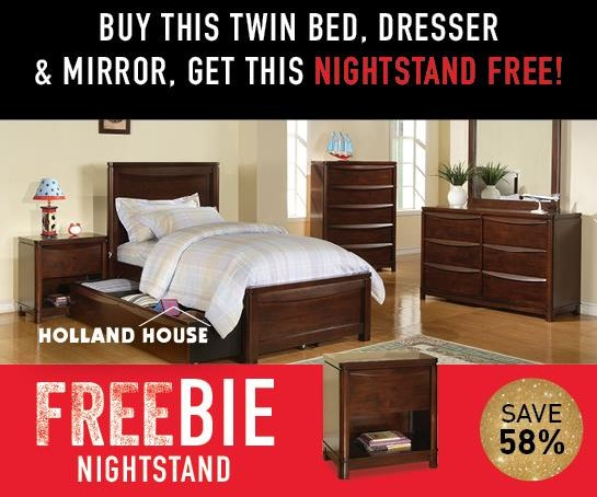 Granada Granada Twin Bed Package with FREEBIE! by Holland House at Morris Home