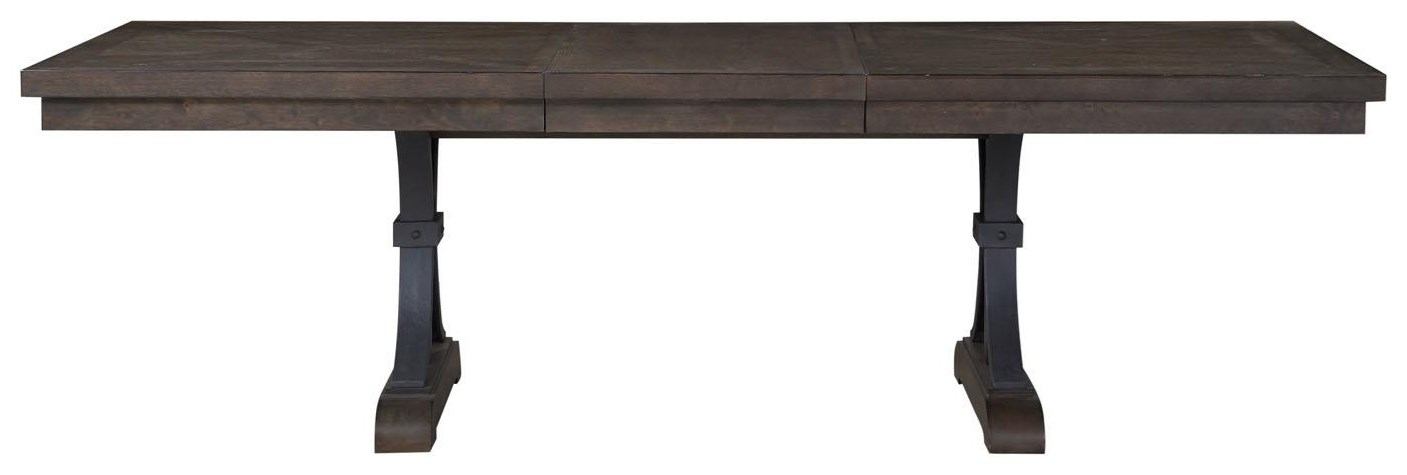 Dining Table with Metal Accents