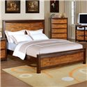 Holland House Kelsy Queen Two-Toned Headboard and Footboard Bed - 675-B896-1+2+3